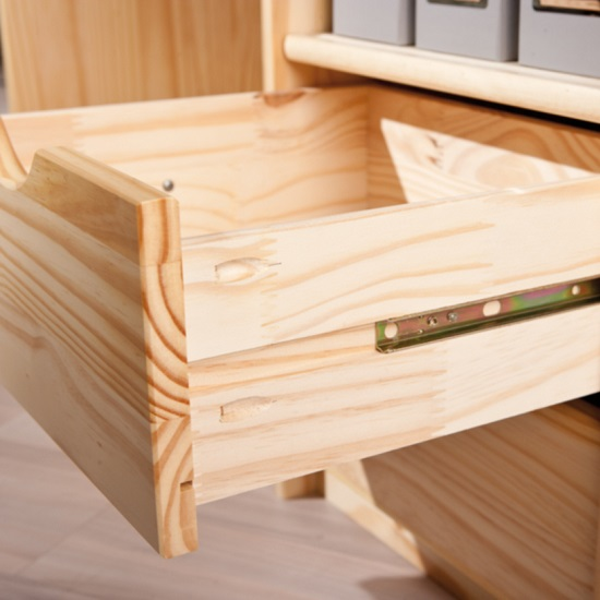 Croma Wooden Computer Desk In Natural With 2 Drawers_3