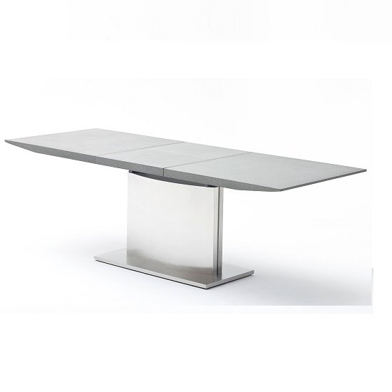 West Extendable Dining Table Stone Effect Top