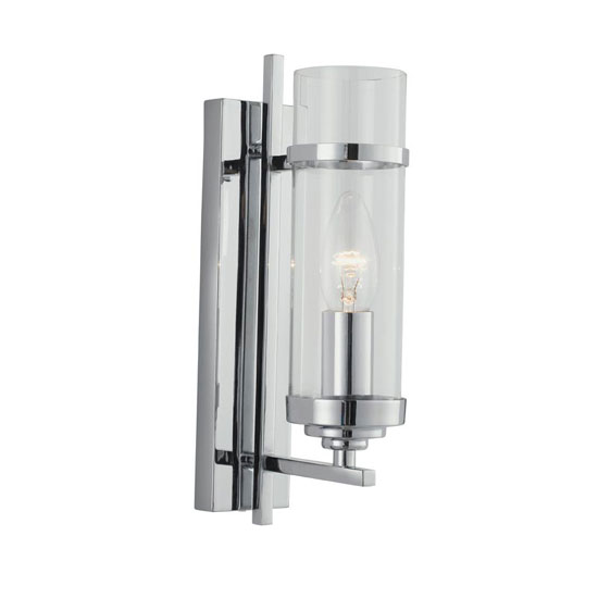 Milo Single Light Switched Wall Light Finish In Polished Chrome