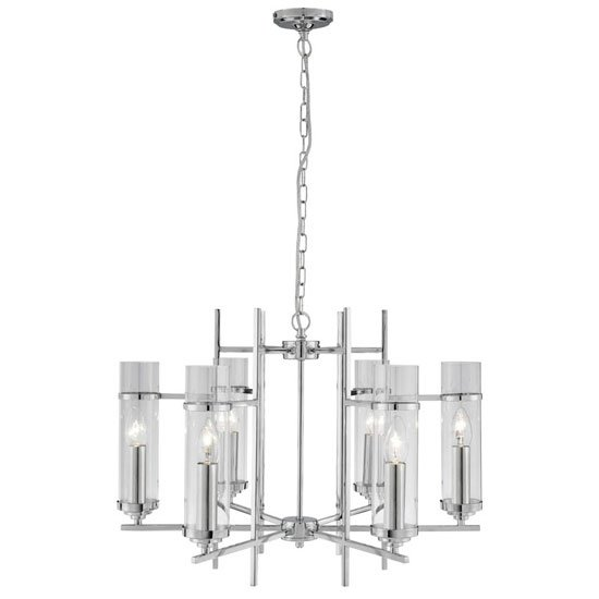 Milo Ceiling Light Finish In Chrome With Suspension Chain