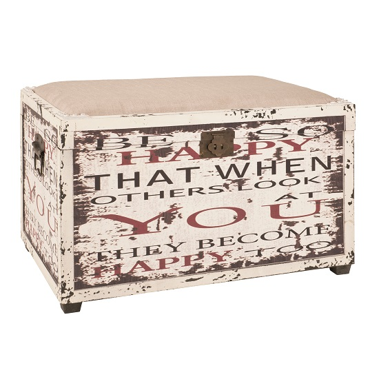 Optical Trunk Bench With Seat In Vintage With Storage