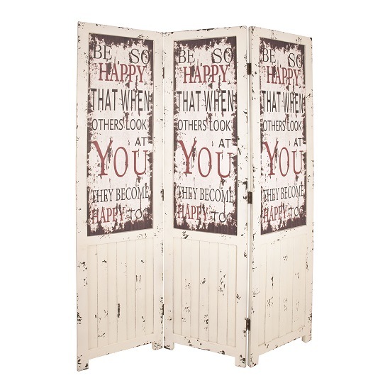 Optical Contemporary Room Divider In Vintage Look