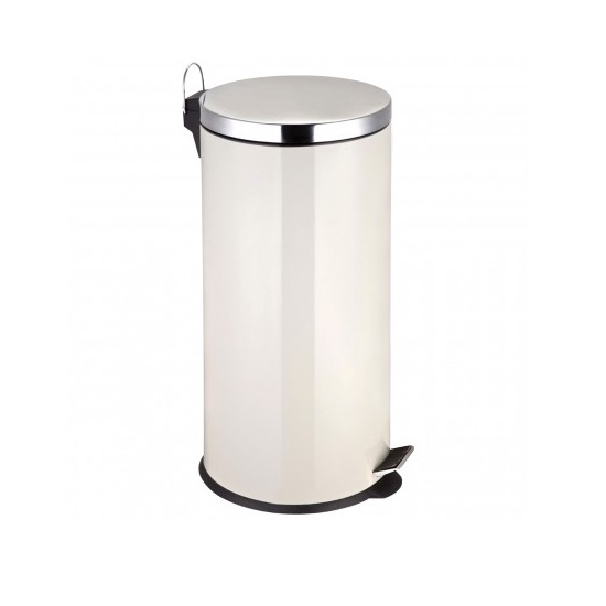 30Ltr Pedal Stainless Steel Bin In Cream Finish