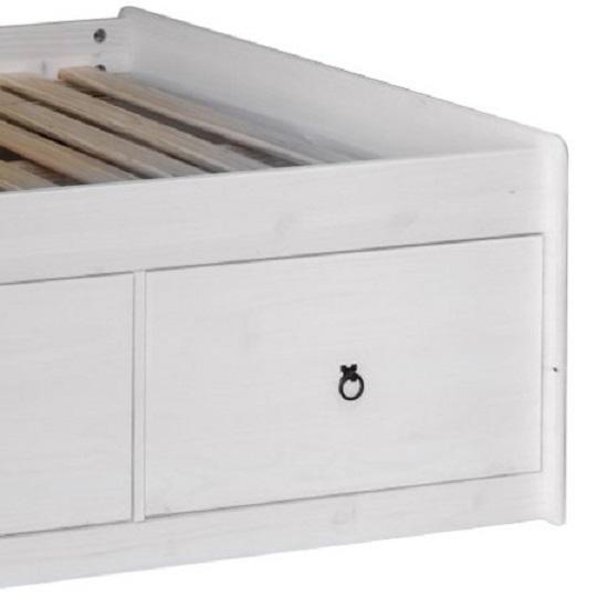 Coroner Cabin Bed In White Washed With 3 Drawers_2