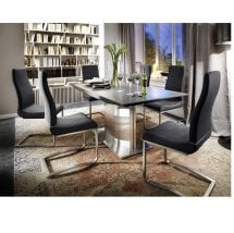West Extendable Dining Table 8 Lana Chairs