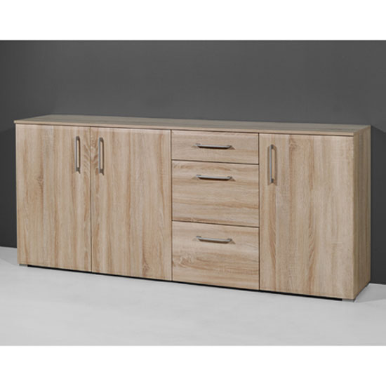 Prisma Sideboard In Sonoma Oak With 3 Doors And 3 Drawers