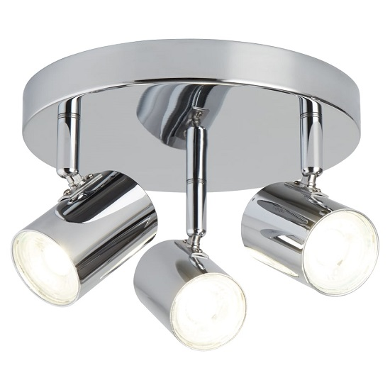 Rollo Three Light Chrome Spotlight Plate With Cylinder Head_1