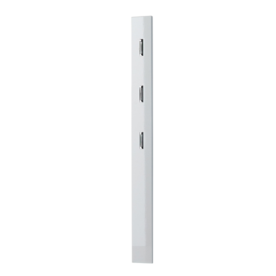 Inside Hallway Wall Mounted Coat Rack In White