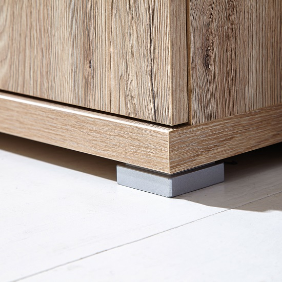 Elina Shoe Cabinet In Sanremo Oak With 2 Doors and 2 Drawers_3