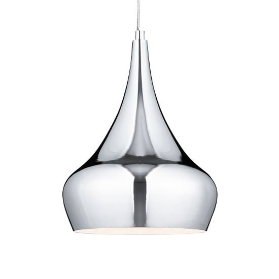 Yurt 1 Light Chrome Pendant Flexi Suspension