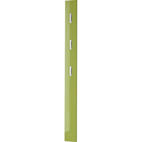 Colorado Coat Rack Wall Mounted In Green High Gloss Front