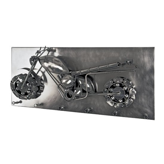 Big Moto Wall Mounted Coat Rack In Black Nickel With 6 Hooks