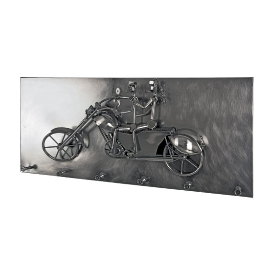 Big Moto Duo Wall Mounted Coat Rack In Black Nickel With 6 Hooks