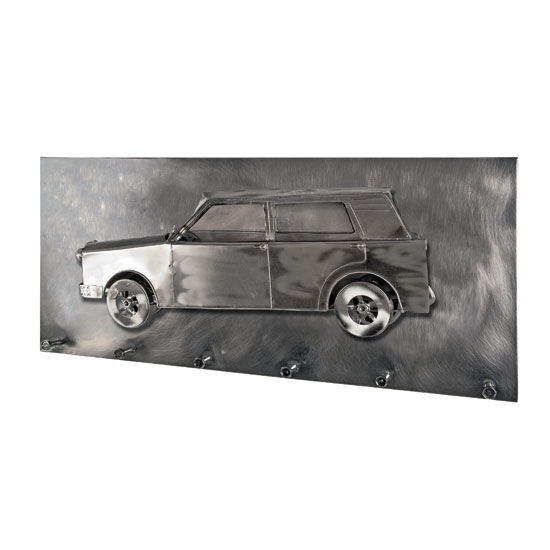 Big Car Wall Mounted Coat Rack In Black Nickel With 6 Hooks