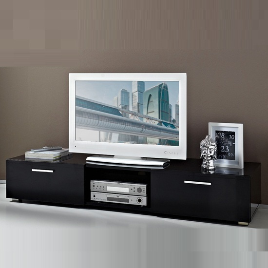 Genie LCD TV Stand In Black High Gloss