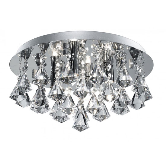Read more about Hanna 4 lamp semi flush ceiling light finished in chrome