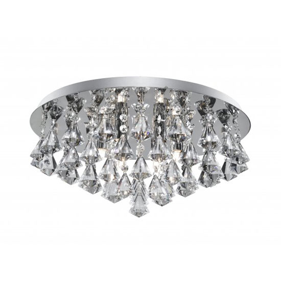 Read more about Hanna 8 lamp semi flush ceiling light finished in chrome