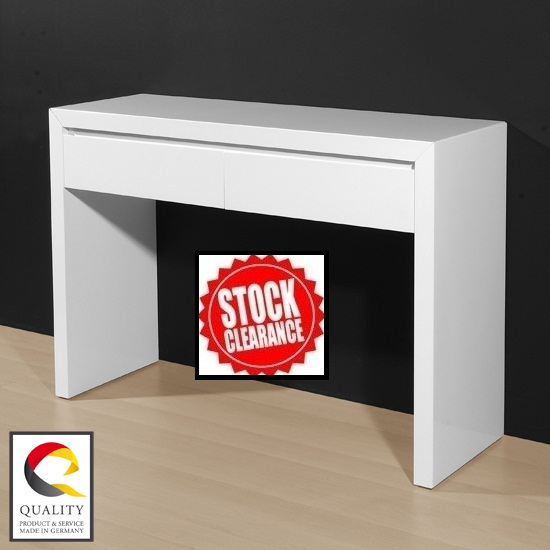 Toscana White High Gloss Coffee Table: Buy Modern Console Table, Furniture In Fashion