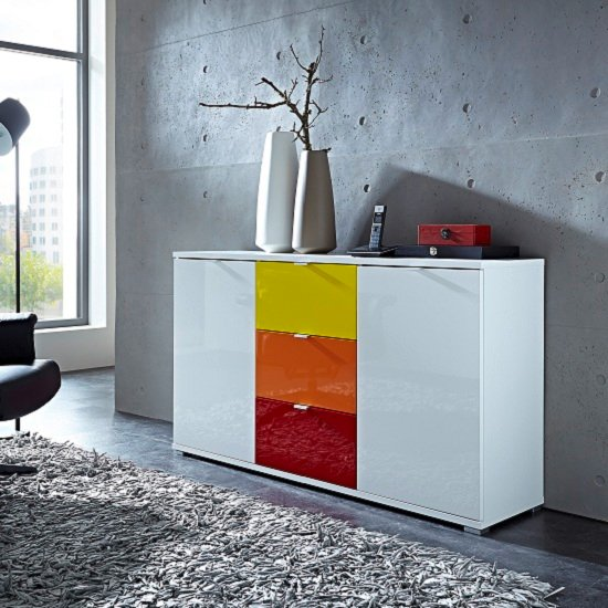 3455 084(3456 197,185,118+3457 084) - How To Add An Extra Contemporary Lacquered Sideboard In A Room