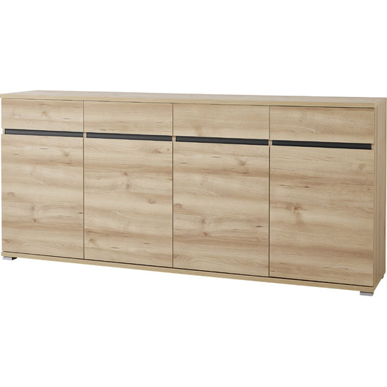 Lissabon Sideboard In Nobel Beech With 4 Drawers And 4 Doors