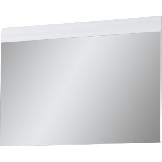 Adrian Wall Mirror In White With High Gloss Fronts