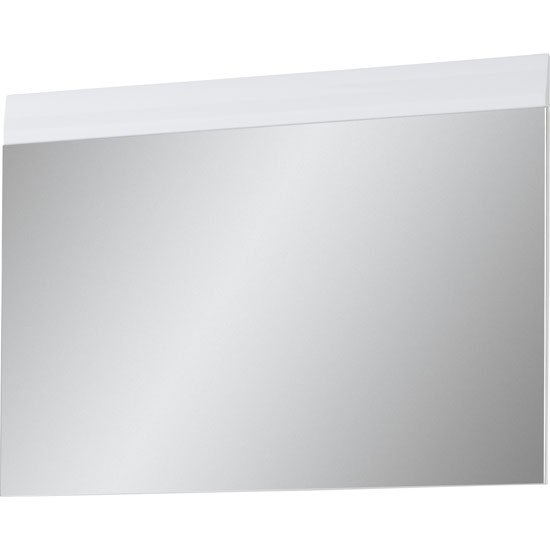 Photo of Adrian wall mirror in white with high gloss fronts