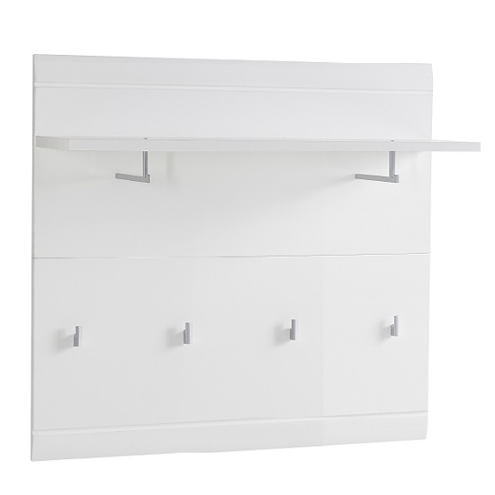 Adrian Wall Mounted Coat Rack In White Gloss Fronts_1