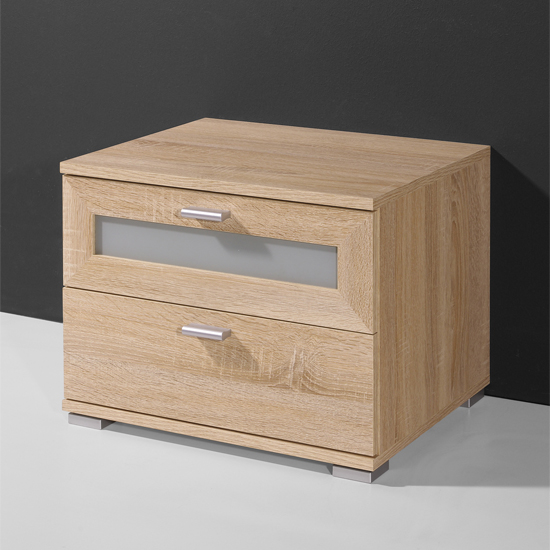 Canadian Oak 2 Drawer Bedside cabinet