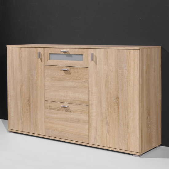 Modern Sideboard In Canadian Oak With 2 Doors And 3 Drawers