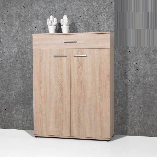shoe cabinet with doors stewart shoe cabinet in sonoma oak with 2 doors 23863 26076