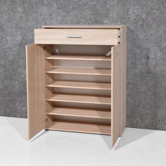 ... Stewart Shoe Cabinet In Sonoma Oak With 2 Doors_4