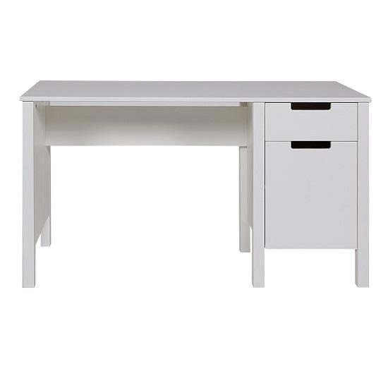 Brighton Wooden Computer Desk In Solid White Pine