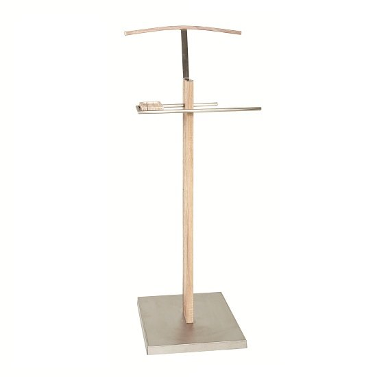 Marlon Valet Stand In San Remo Oak With Steel Base