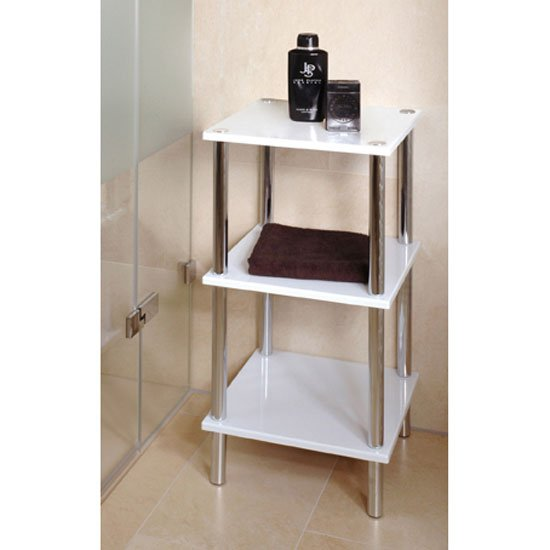 3 tier high gloss white display stand 90339 5034 furniture - Salle de bain 3m carre ...