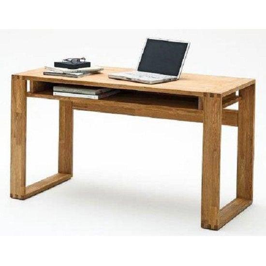 Jasmin Knotty Oak Computer Desk With 1 Shelf