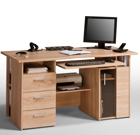Read more about Capius sanoma oak computer work station and drawers