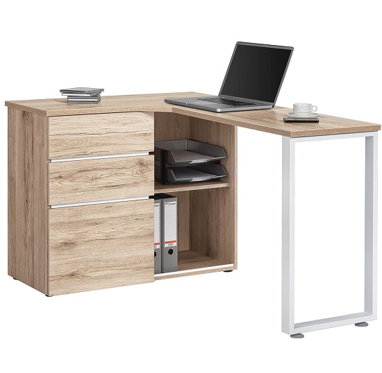 Buy cheap Oak corner desk - compare Office Supplies prices for best UK