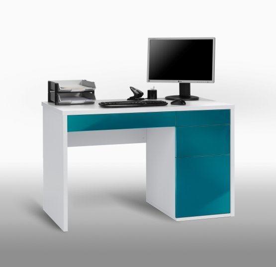 40593985 petrol blue desk - 7 Things To Bear In Mind While Looking For Computer Desks For College Students