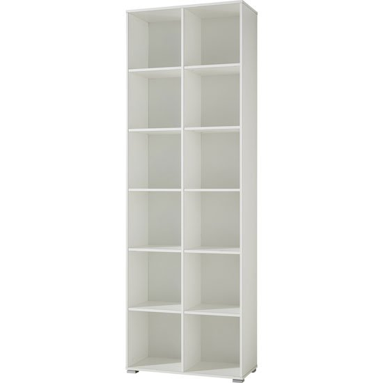 Montreal Shelving Unit In White With 10 Shelf