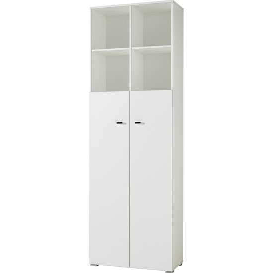 Montreal Home Office Cabinet In White With 2 Shelf And 2 Door