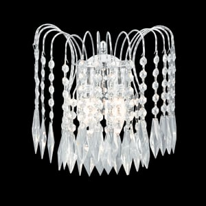 Crystal Waterfall Chrome Finish Chandelier