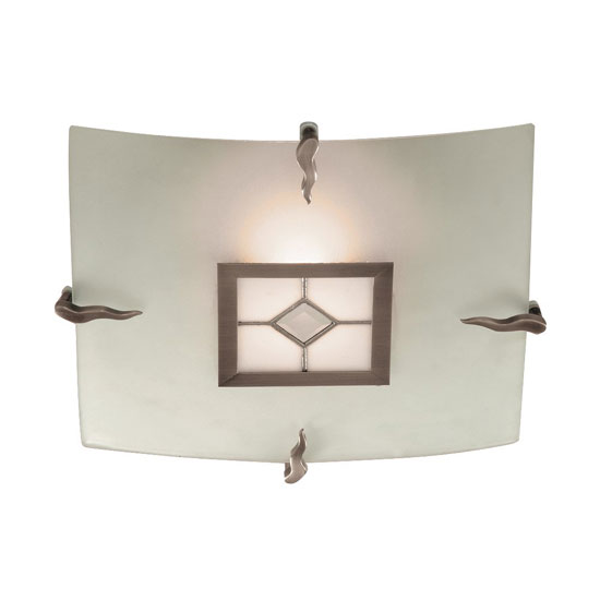 Tiffany 1 Lamp Flush Diamond Antique Brass Ceiling Light