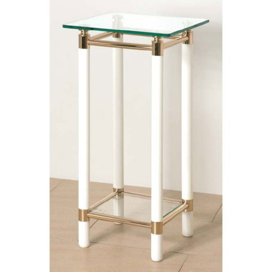 Superior Palaccio Gold Plated Gloss White Telephone Tables