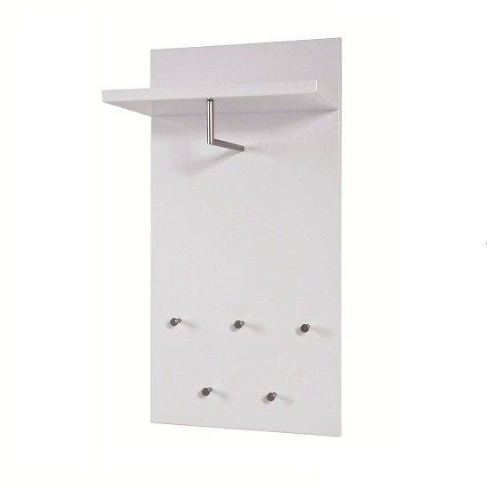 paolo wall mounted coat rack in white high gloss with 5. Black Bedroom Furniture Sets. Home Design Ideas