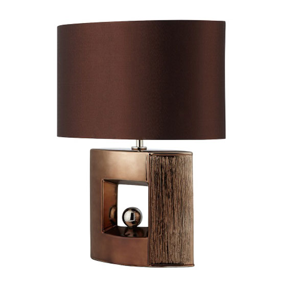 square table lamp with faux silk drum shade bronze ceramic table lamp. Black Bedroom Furniture Sets. Home Design Ideas