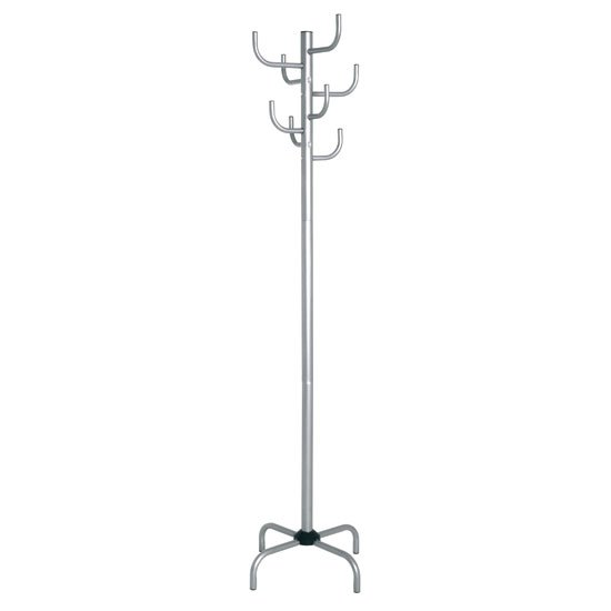 Cactus Contemporary Coat Stand In Silver
