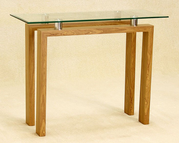 Adina Clear Glass Console Table