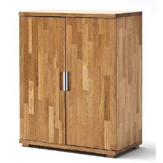 Knotty White Oak Cabinets: Cento Knotty Oak Low Board Storage Cabinet With 2 Door