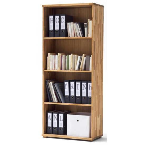 Cento Knotty Oak Shelving Unit With 4 Shelf