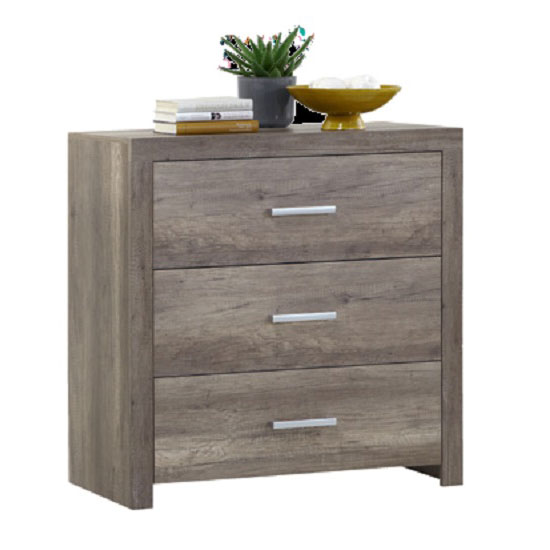 Country44 Wild Oak Finish 3 Drawer Chest